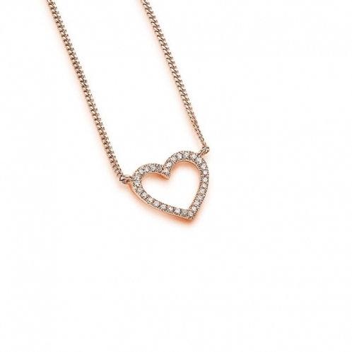 Palido Collier Roségold Diamanten Herz K10527/R