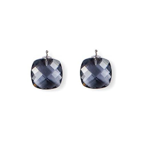 Briolett Schliff Einhänger E 50, black diamond, 16x16mm