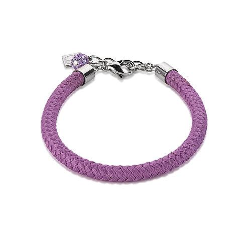 Coeur de Lion Armband Textil geflochten lila 0115300800