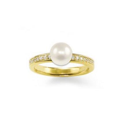 TR1986 THOMAS SABO Ring Perle Gelbvergoldet