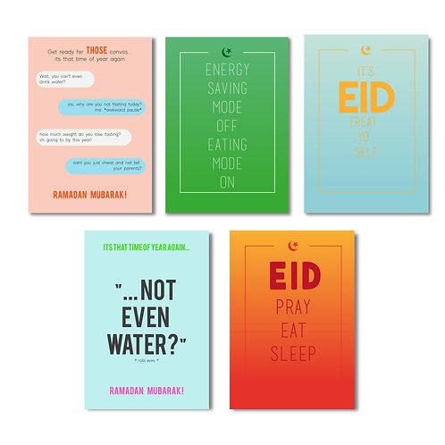 5 Pack Eid/Ramadan Card