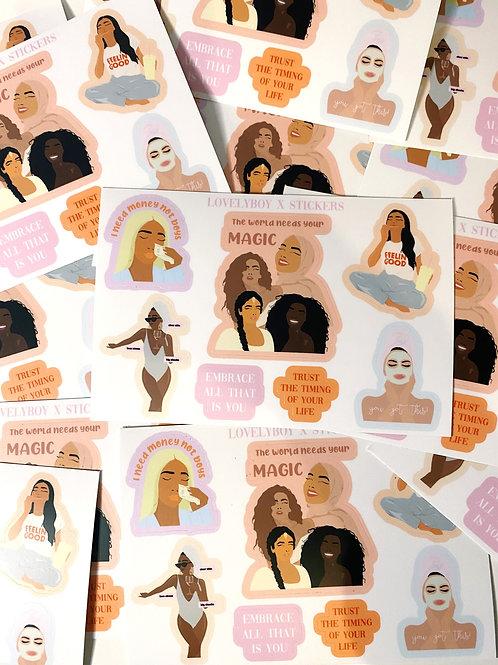 Female empowerment sticker pack