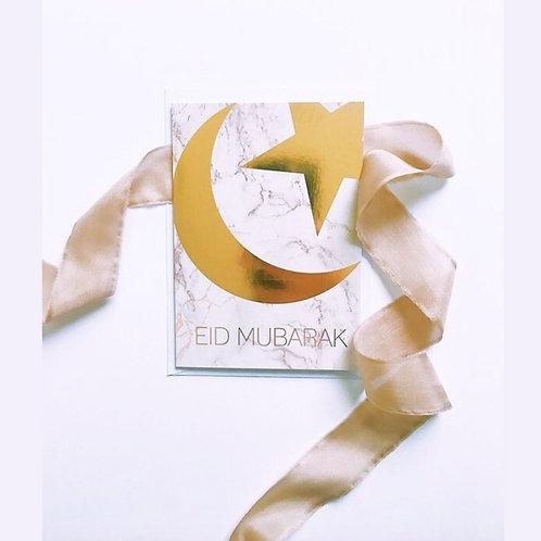 Gold marble Luxury Eid Card