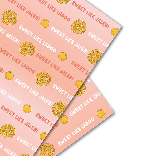 Jalebi and Ladoo wrapping paper