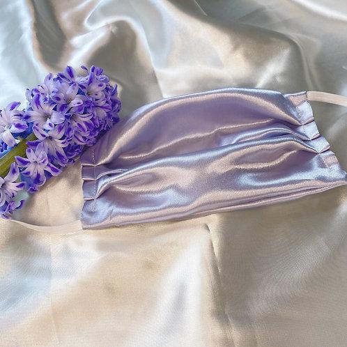 Silk facemask, Lavender
