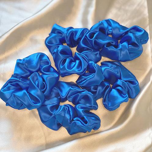 Cobalt Blue Silk Hair Scrunch