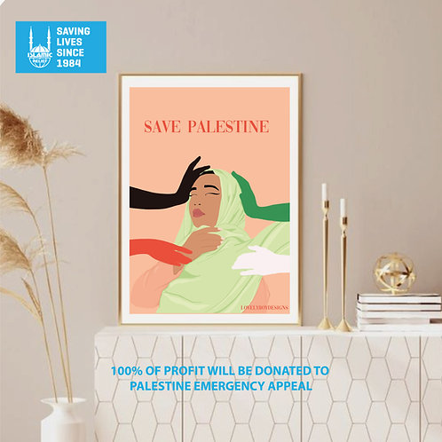 LIMITED EDITION PALESTINE Print- 100% Profit donated to Palestine emergency appe