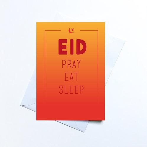 Eid Pray Eat Sleep Card