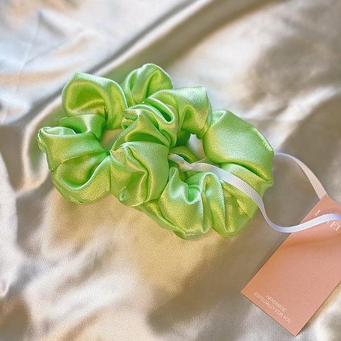 Pistachio Silk Hair Scrunchies