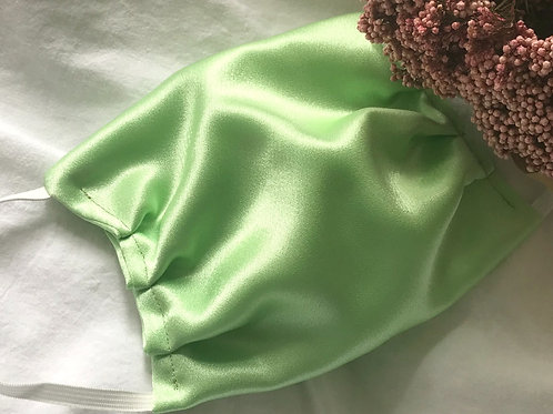 Silk face masks, Pistachio green