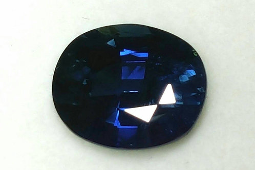 Unheated 3.91 CT Natural Deep Blue Sapphire VS from Madagascar