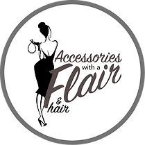 Accessories with a Flair! and Hair Logo