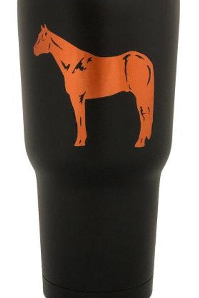 Black Stainless Orange Standing Horse