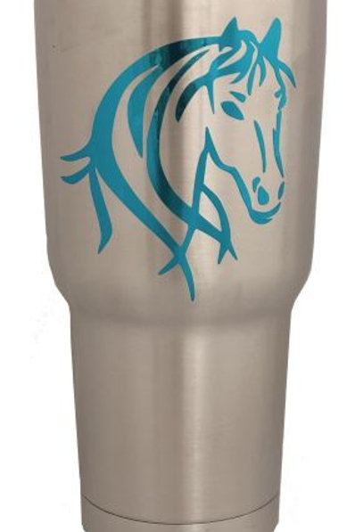 Stainless Teal Horsehead