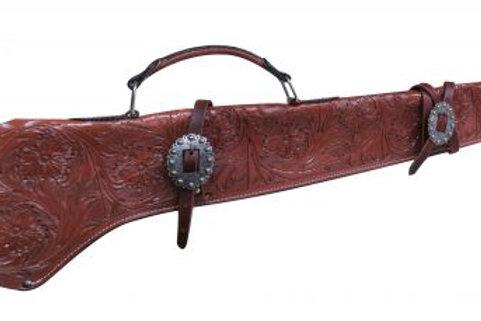 Floral Tooled Gun Scabbard