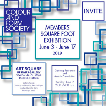 CFS Square Foot Exhibition 2019