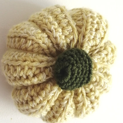 Cream crochet pumpkin