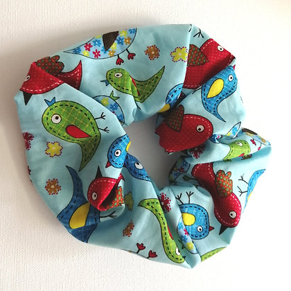 Bird fabric scrunchie