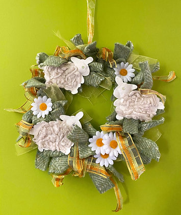Spring Sheep Wreath