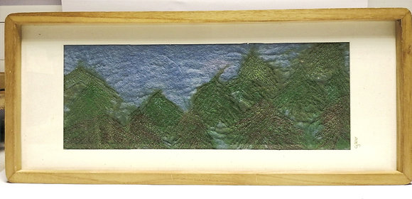 Pine Tops. Hand felted picture.