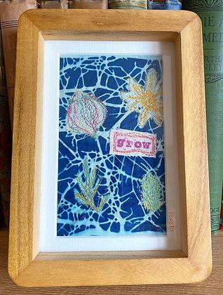 Grow - Stitched Cyanotype