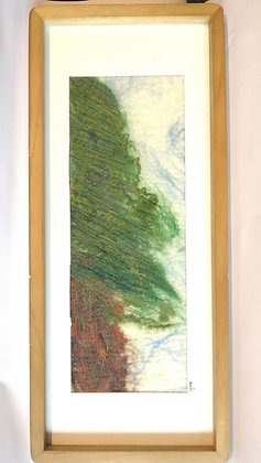 Lone Pine hand felted and machine stitched picture