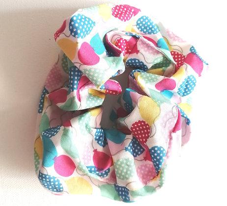 Balloon pattern scrunchie