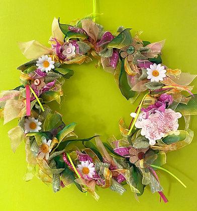Spring FlowersDecorative Wreath