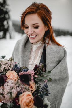Brautpaar im Winter berlin