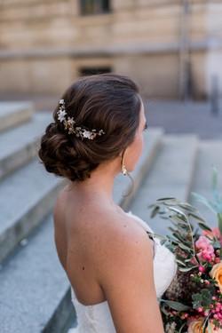 Brautfrisur berlin headpiece