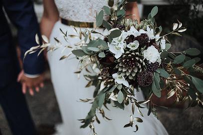 Braut styling, Brautstrauss , kopflegenden