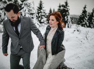 After Wedding Shooting im Winter Wonderland