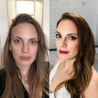 braut makeup vorher nachher , glam makeup berlin