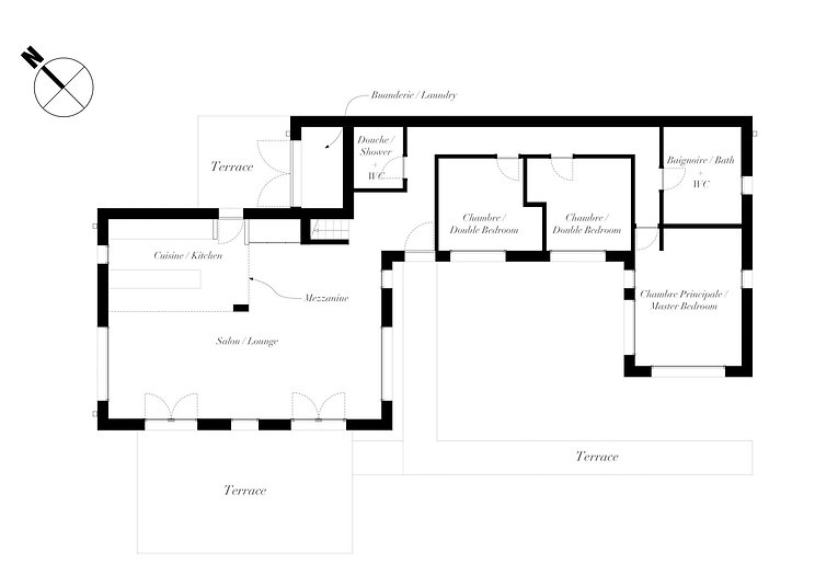 Maison 5 plan - Architecture by RVRA+D