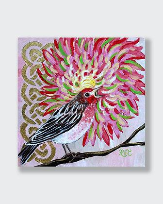 Finch & Chrysanthemum