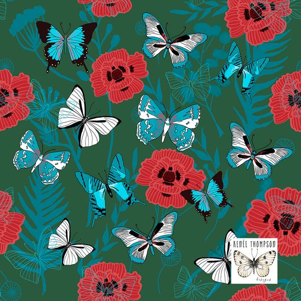 Butterflies & Poppies
