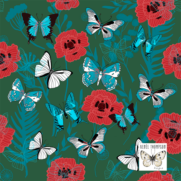 Butterflies & Poppies