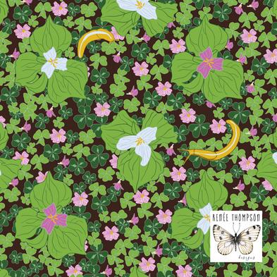 Trilliums In Spring
