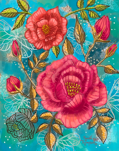 Coral Roses and Butterflies.png