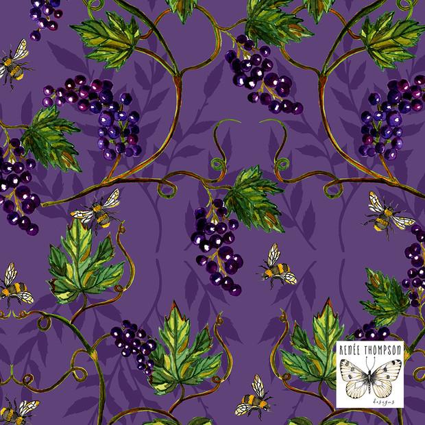 Grape Vines & Bees