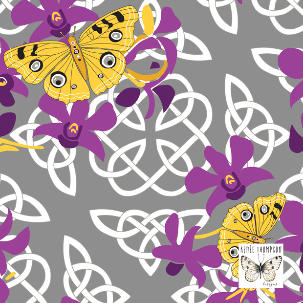 Celtic Butterflies & Orchids