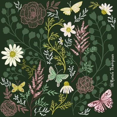 Astilbe & Butterflies