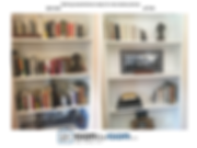 before & after bookshelves