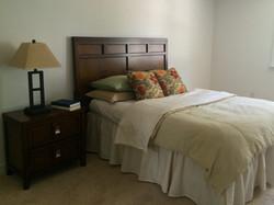 Bedroom with rental furniture