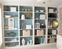 book shelves white
