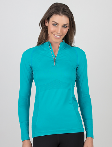 Anique UV Protection Shirt in Peacock Bl