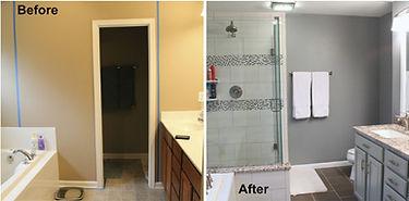 Before & After bathroom shower upgrade