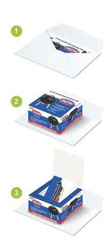 Pop-up box card opening