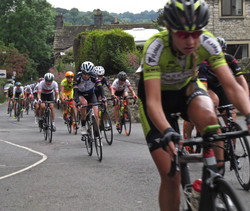 Cycle race through Youlgrave