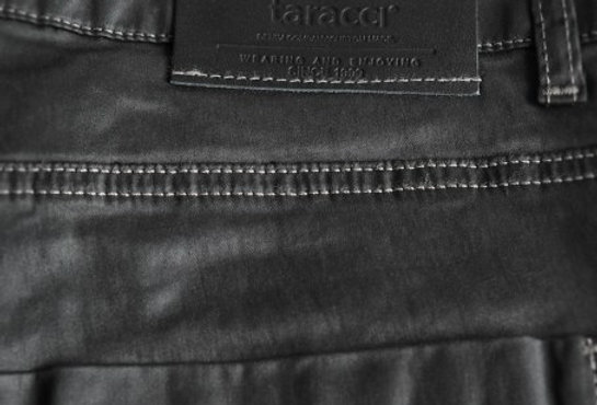 Trousers Waxed Slim-Fit Black